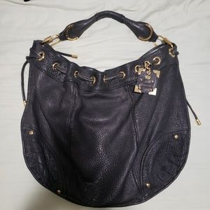 Juicy couture XL black leather hobo purse
